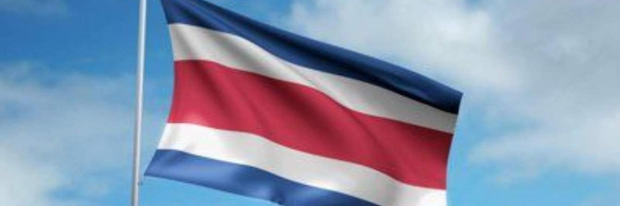 The National Flag of Costa Rica with the 'Pabellón