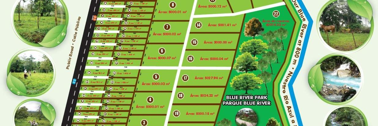 Blue River Estate map of lots