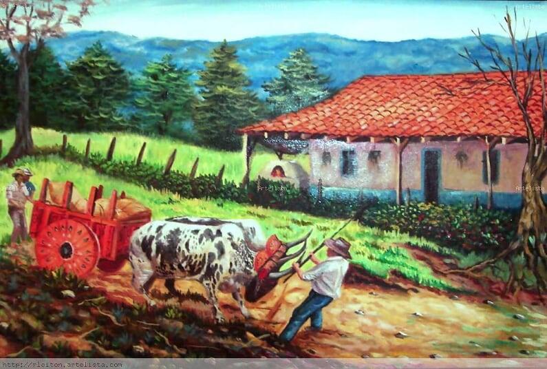 Costa Rica National Symbol of Work