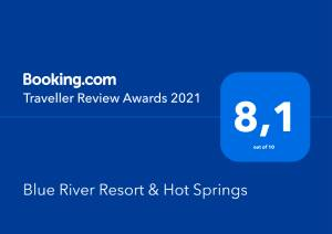Blue River Resort & Hot Springs Traveller Review Award 2021